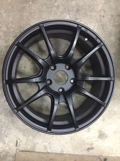 "17"" Matt black sport rims"