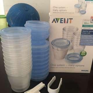 Breast milk storage cup
