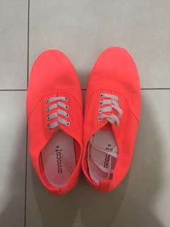 H&M Bright Coral Pink Sneakers