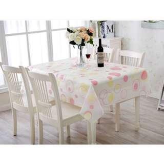 4436B Rectangle Polka Dot Design Waterproof Dining Table Cloth