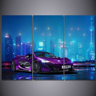 Framed Mclaren Luxury Car Road Canvas Room Office Decor