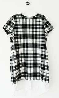 Monochromatic Plaid Dress