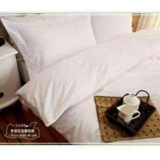 🚚 五星級飯店-提花白 枕頭套
