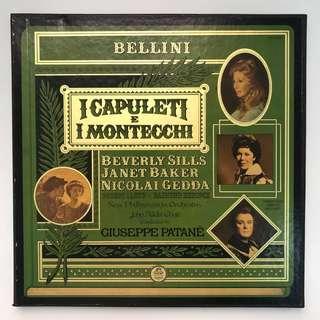 Bellini I Capuleti E I Montecchi Janet Baker Nicolai Gedda Patane EMI Angel SCLC 3824 3-LP box set