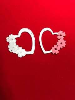 heart #6 scrapbooking Cutting shaker Die