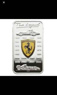 Limited edition Ferrari Silver Coin
