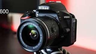 Kredit dp ringan Nikon D5600 DSLR Camera with 18-55mm tanpa Cc