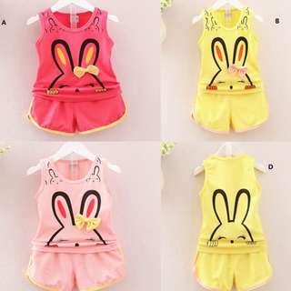 Kids Girls Sleeveless Top + Shorts Sets