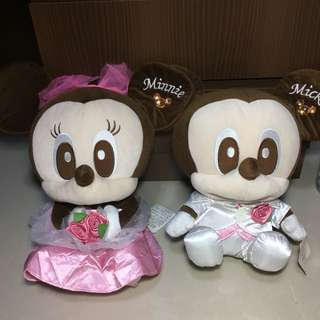 Mickey and Minnie Mouse Wedding Plush Toys   Bride and Groom   Soft Toys #easter20