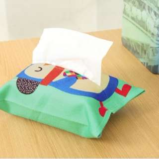 92882 Cartoon Animals Printed Tissues Holder Case Pouch