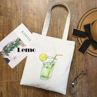 Lemo Canvas Tote Bag.