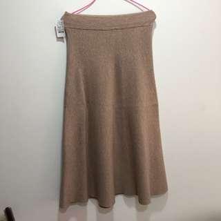 🚚 毛織長圓裙