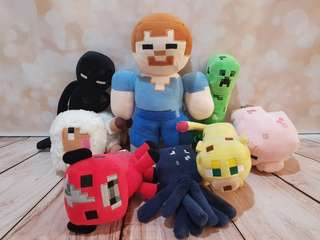 Minecraft stuffed toys