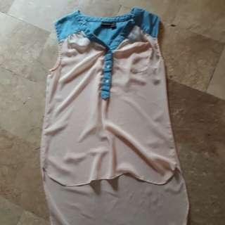 Long back sleeveless top