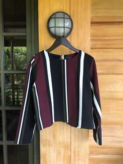 Corporate striped-long sleeves