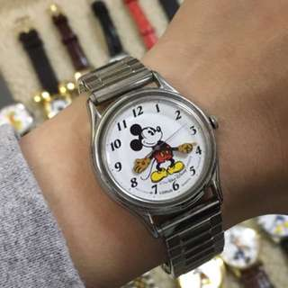 Vintage Walt Disney Company Mickey Mouse X Lorus Watch 迪士尼 米奇老鼠手錶