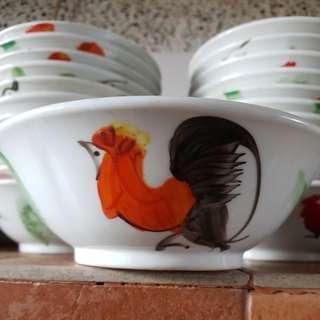 Rooster bowl 公鸡碗16cm ( 23pcs)