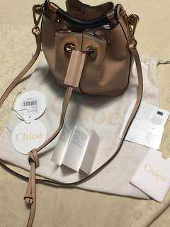 Im selling Authentic Chloe gala calfskin bucket  in nude color!