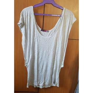 Pale Gray Loose Top