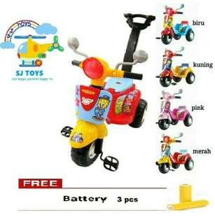 Mainan anak/sepeda roda 3/scooter shp