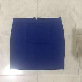 Rok Forever 21 Biru (Blue Skirt)