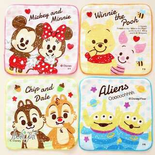 BE0135 DECORATIVE CARTOON HANDKERCHIEF.12.WP  COLOR: MICKEY,POOH,CHIP AND DALE