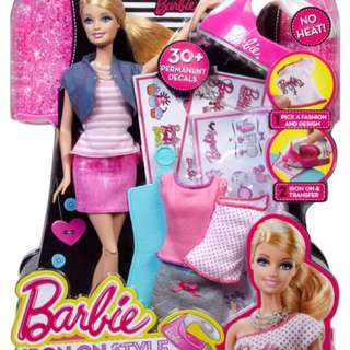 [NEW IN BOX] Fashion Barbie with Iron-on set