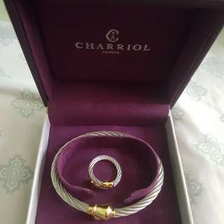 CHARRIOL bangle and ring