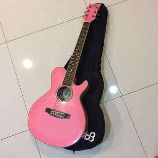AB 吉他 粉色