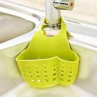 72153 Portable Kitchen Bathroom Storage Hanging Drain Basket