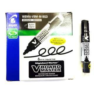 Pilot V Broad Master Whiteboard Marker Medium Bullet Tip -12Pcs