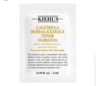 Kiehl's Calendula Herbal Extract Toner 3ml bnib