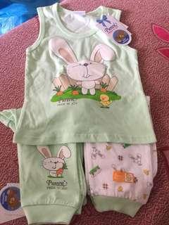Baju baby baru dgn tag harga (3helai for rm10)