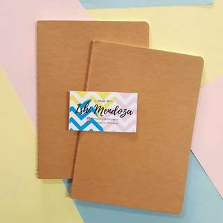 Personalized Calligraphy Kraft (Craft) Notebooks (60php-100 php)