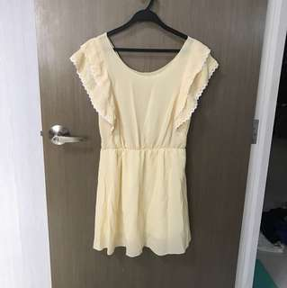 BNIP Yellow/Orange Flutter Sleeved Dress