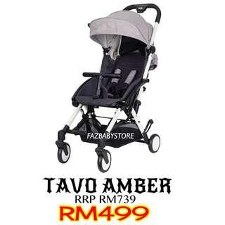 Tavo Amber Stroller - White Grey