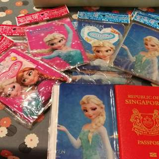 8 for $10. Bundle sale. Passport and card holder. Frozen theme. Else and Anna Disney princess.
