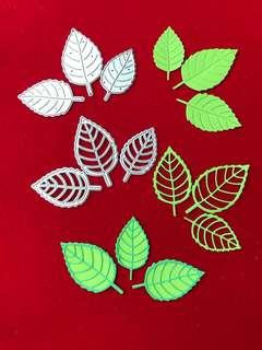 Leaves #5 scrapbooking layered Cutting Dies 6pc set