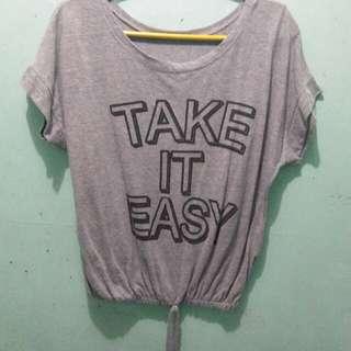 Gray statement shirt