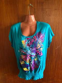 Blue / Green Woman's Top
