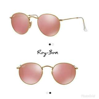 Ray-Ban Round Rose Gold Sunglasses