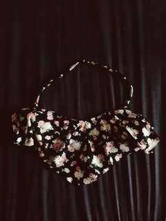 Black Floral Bikini
