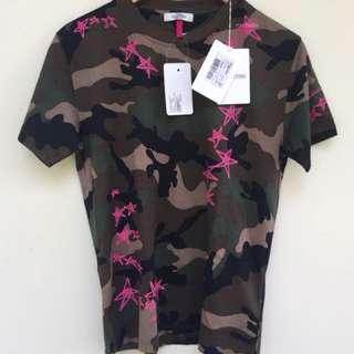 VALENTINO Zhandra Rhodes Stars Camo print shirt