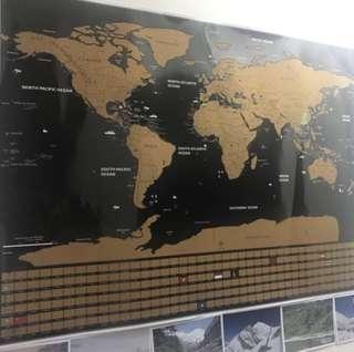 World map 刮刮世界地圖 英文版