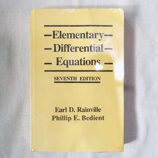Elementary Differential Equation