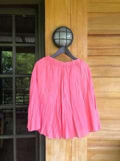 Wrinkled balloon skirt