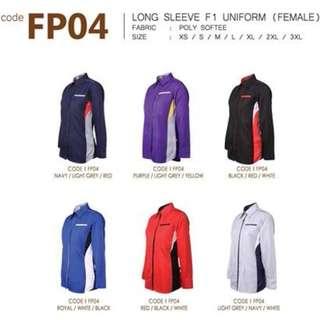 2pcs Female Long Sleeve F1 Uniform, Corporate Shirt, Blouse, Business Shirt