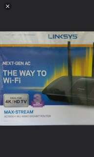Linksys maxbstream ac1900 brand new