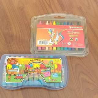 Oil pastel and crayon bundle