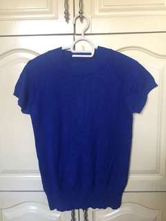 Sea Blue Cashmere Top